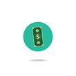 Vector of money icon.dollar