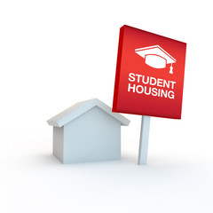 student housing illustration