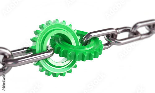 green gears chain links