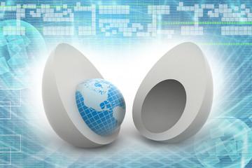 World in egg