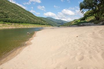 River bed landscape in South Korea