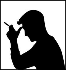 man who smoked marijuana or tobacco