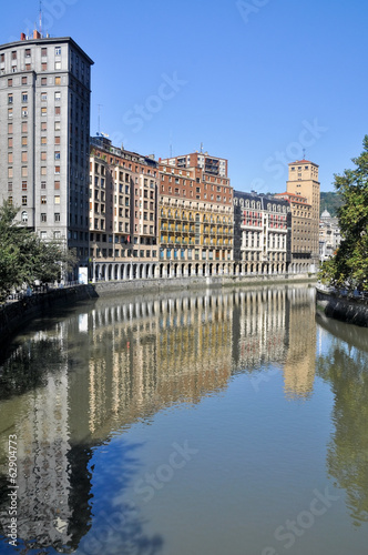 Nervion river at Bilbao (Spain)