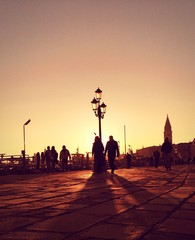 Venice, sunset time