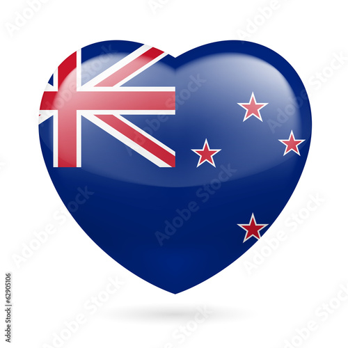 Heart icon of New Zealand