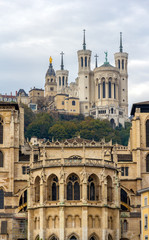 Cathedrale Saint Jean and Basilique Notre Dame de Fourviere