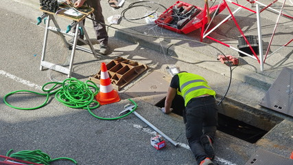 branchement de la fibre optique