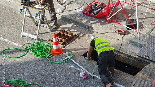 branchement de la fibre optique - 62905567