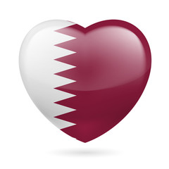 Heart icon of Qatar
