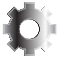 cogwheel, vector illustration