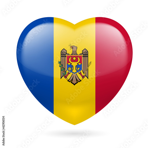 Heart icon of Moldova