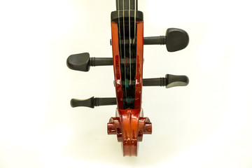 fingerboard violin, isolated on a white background
