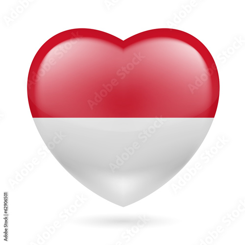 Heart icon of Indonesia