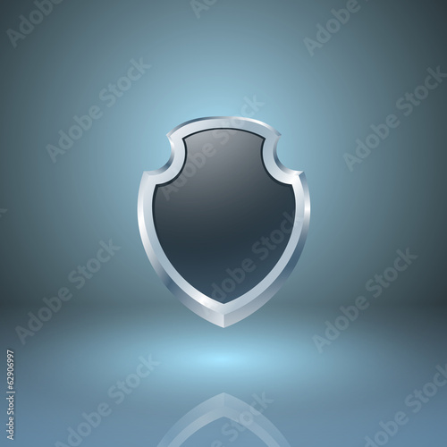 Glossy shield icon.
