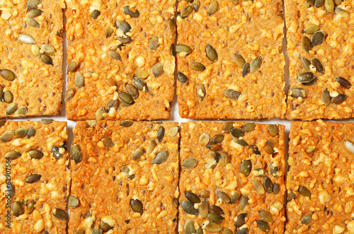 Pumpkin seed cheddar crackers