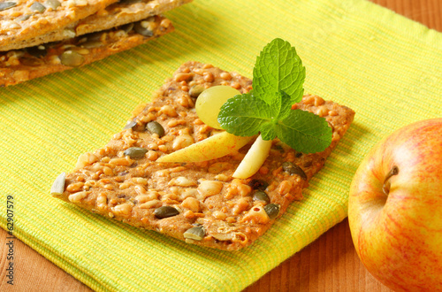 Pumpkin seed cheddar cracker