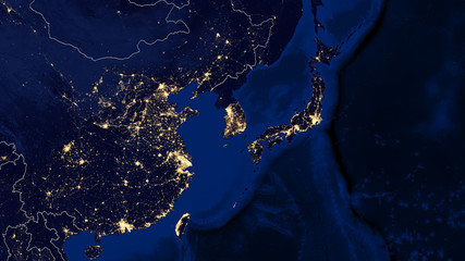 Japan & East China Sea - Night - 02