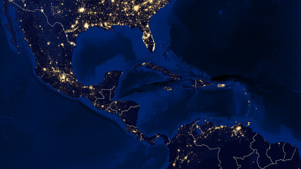 Gulf of Mexico & Caribbean - Night - 02