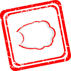 abstract red cloud signs, web symbols and icons