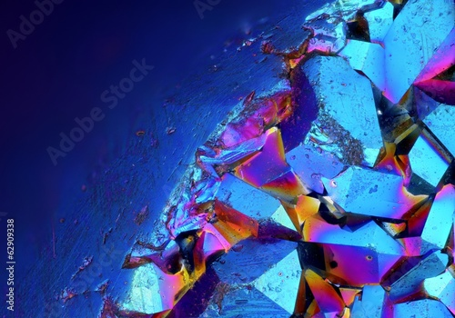Extreme detailed surface of Titanium Aura Crystal Cluster