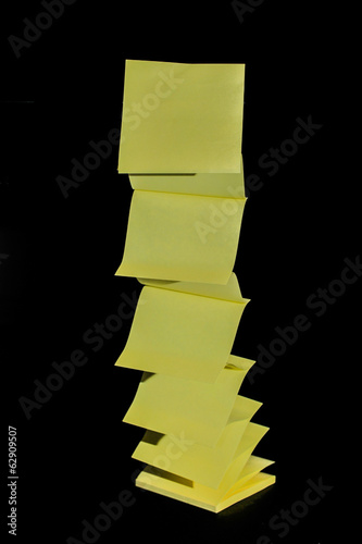 Sticky notes flying up off the pad