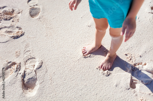 Close up of girl standing at beach