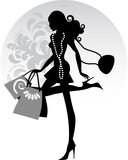 Fototapety Miss shopping