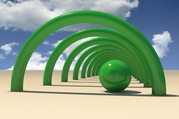 Green bows and sphere