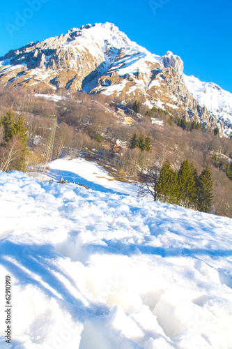 Snow on Resinelli planes, Lecco Italy