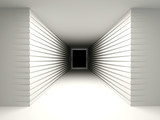 Abstract background with a dark corridor. The concept of perspec