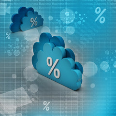 Percentage sign in cloud