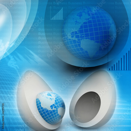 World in egg