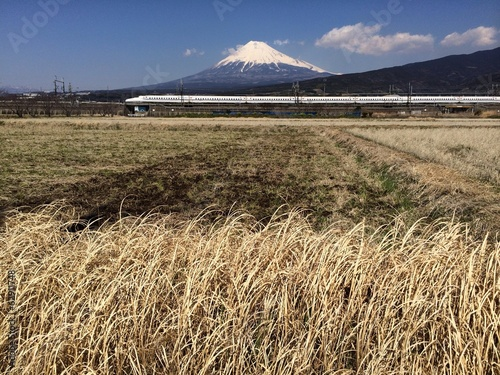 Mountain Fuji and Shinkansen