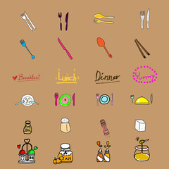 funny flavoring icon,handwriting,EPS10