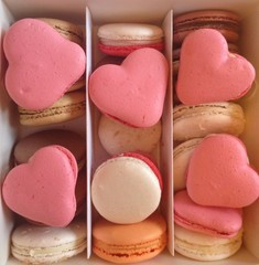 macarons with hearts