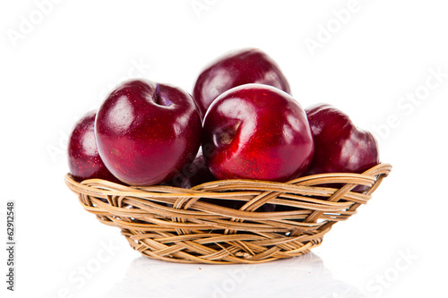 plums  fruit isolated on white background