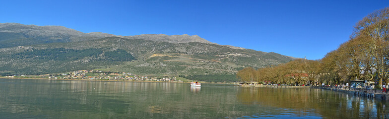 Ioannina lake panorama