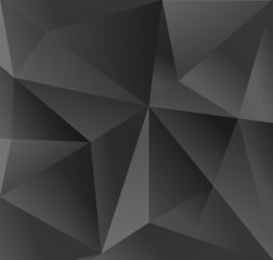 Abstract carbon black triangle background