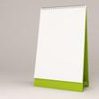 3d white blank calendar