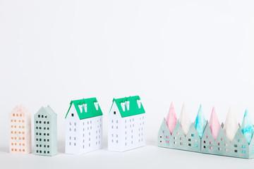 ペーパークラフトの建築物・ビルディング・住宅(プロパティリリース有り)