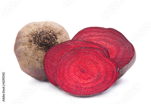 Beetroot slice closeup