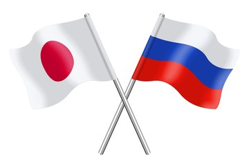 Flags: Japan and Russia