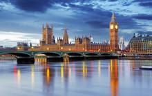 "Постер, картина, фотообои ""London - Big ben and houses of parliament, UK"""