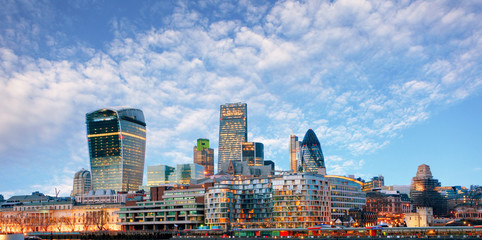 London skyline - cityspace, England