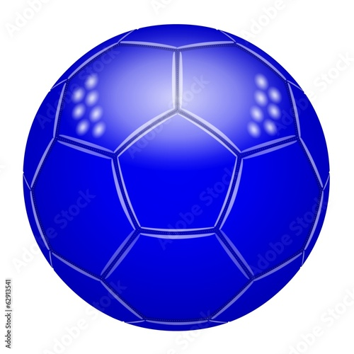 Ballon de football bleu