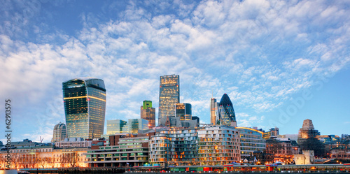 canvas print picture London skyline - cityspace, England