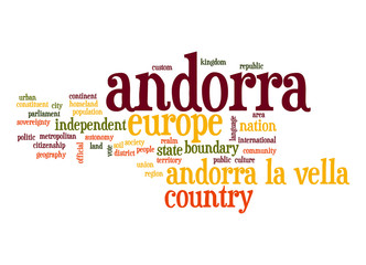 Andorra word cloud