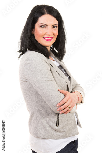 Casual woman with arms folded