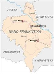 Map of Ivano-Frankivsk Oblast