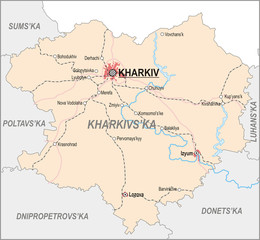 Map of Kharkiv Oblast